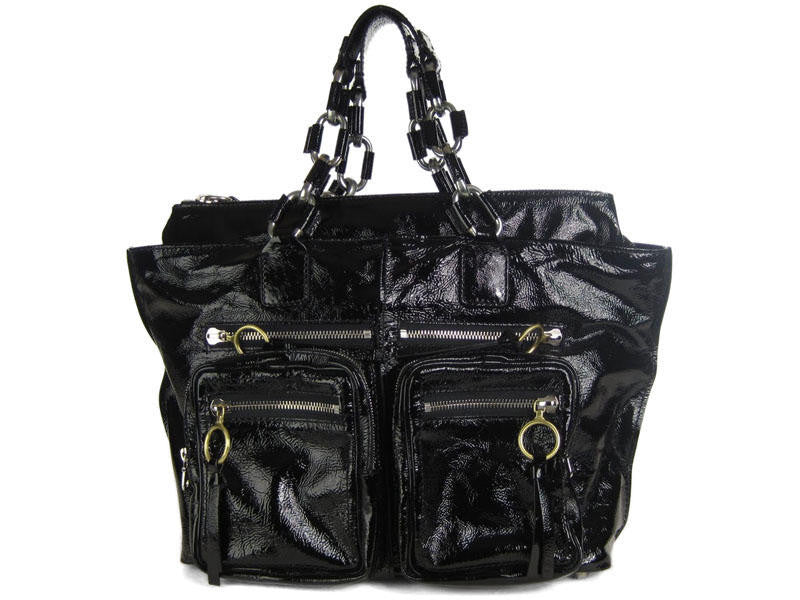 Chloé  Black Patent Betty Chain Tote