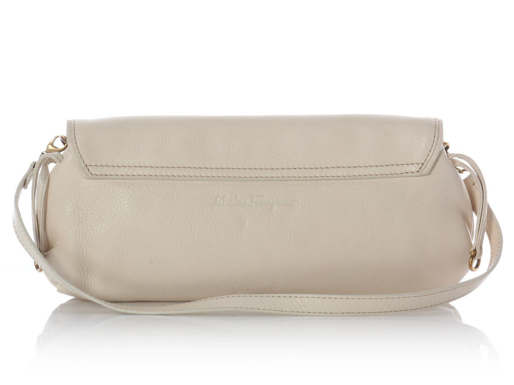 Ferragamo Small Cream Shoulder Bag