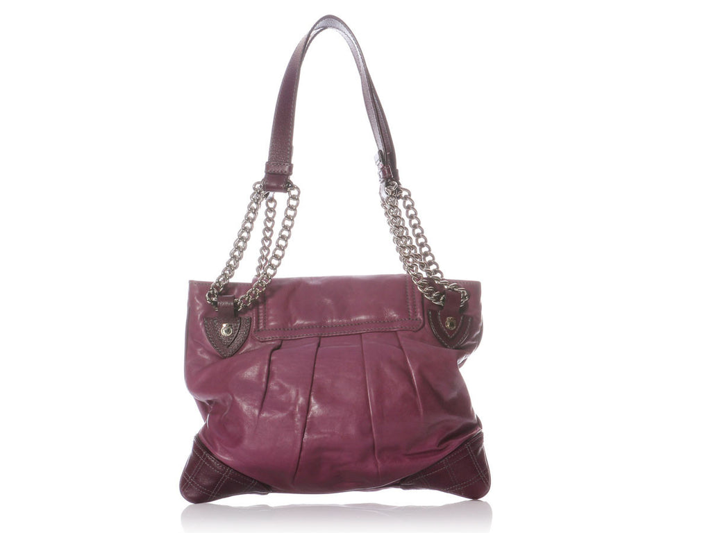 Marc Jacobs Purple Pleated Bag