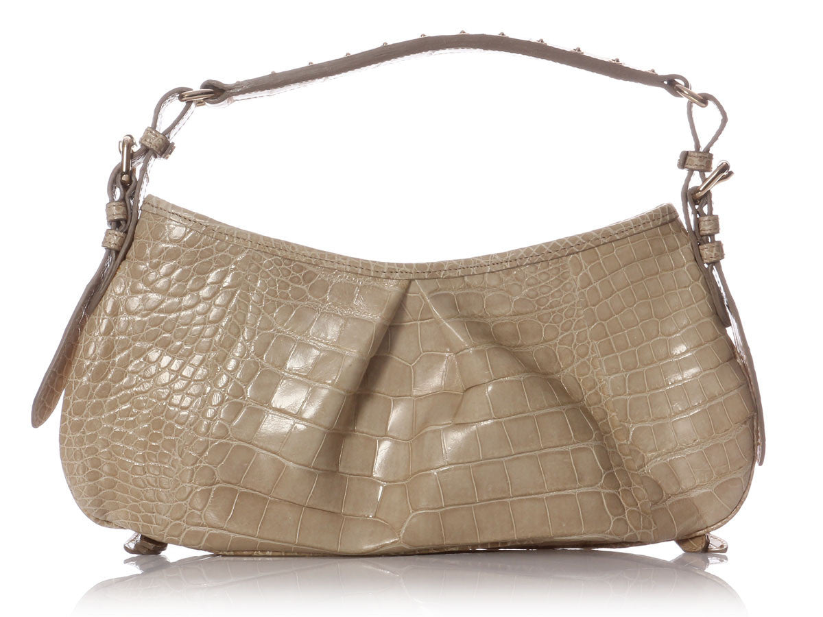a1cb06eb1283 Burberry Alligator Trench Shoulder Bag - Ann s Fabulous Closeouts