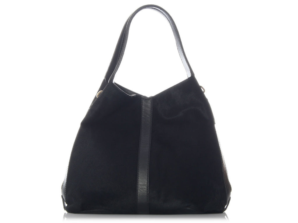 Givenchy Black Pony Hair Tinhan Tote