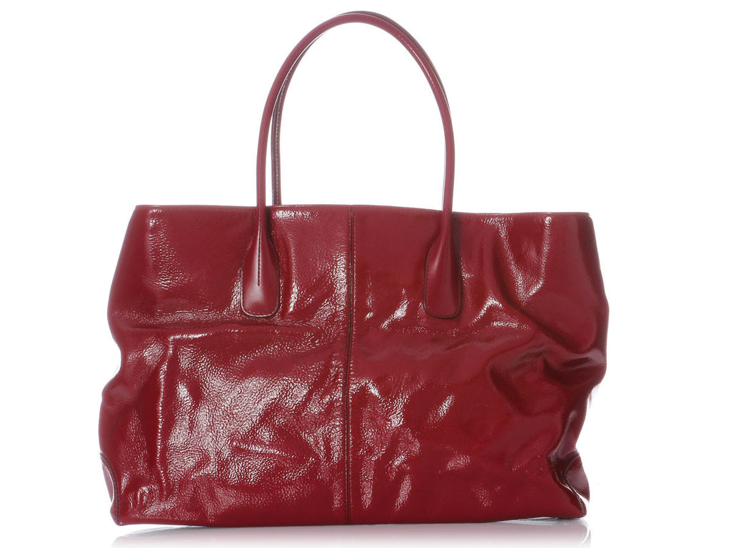 Tod's Large Red Patent D Shopper