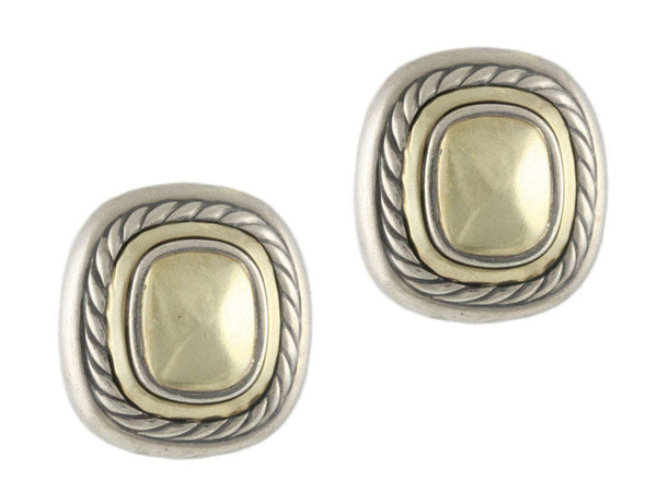 David Yurman Two-Toned Albion Earrings
