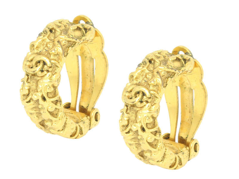 Chanel Gold Clip-On Earrings