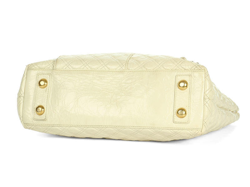 Marc Jacobs Cream Quilted Patent Tote