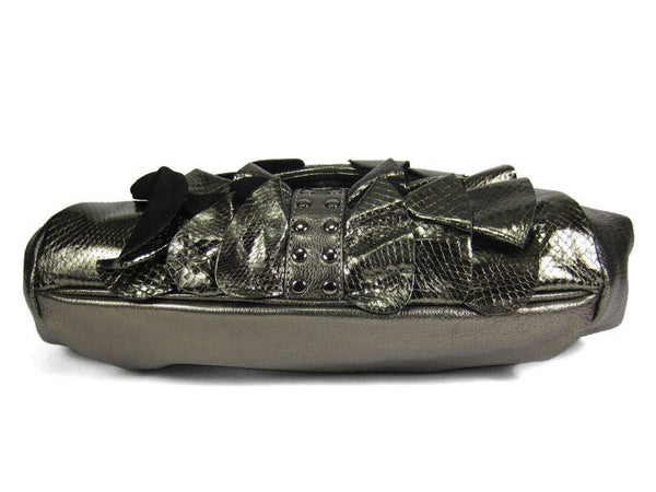 Be&D Metallic Gunmetal Leather Chatterley