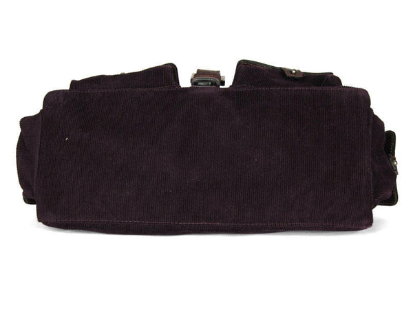 Luella Purple Corduroy Anouk Bag
