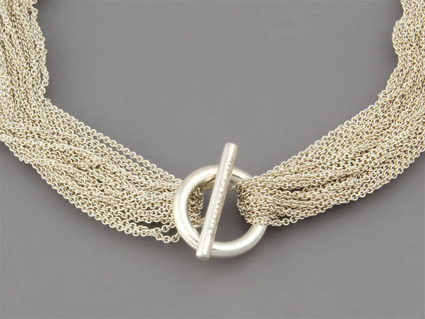Tiffany & Co Sterling Multi-Chain Necklace