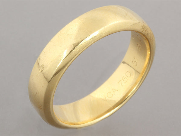 Van Cleef & Arpels 18K Yellow Gold Wedding Band