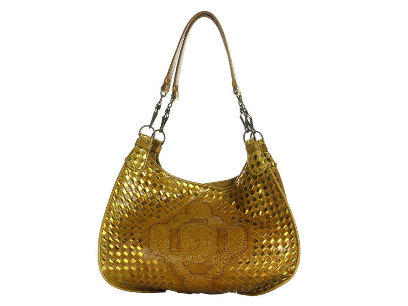 Bottega Veneta Gold Metallic Bag