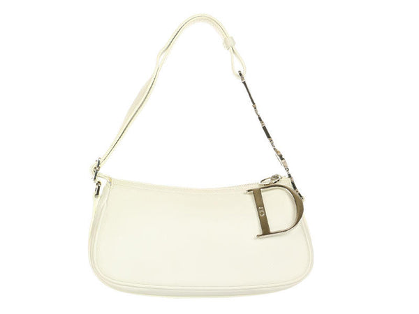 Christian Dior Small White Leather Bag