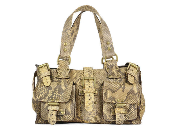 Mulberry Natural Python Roxanne