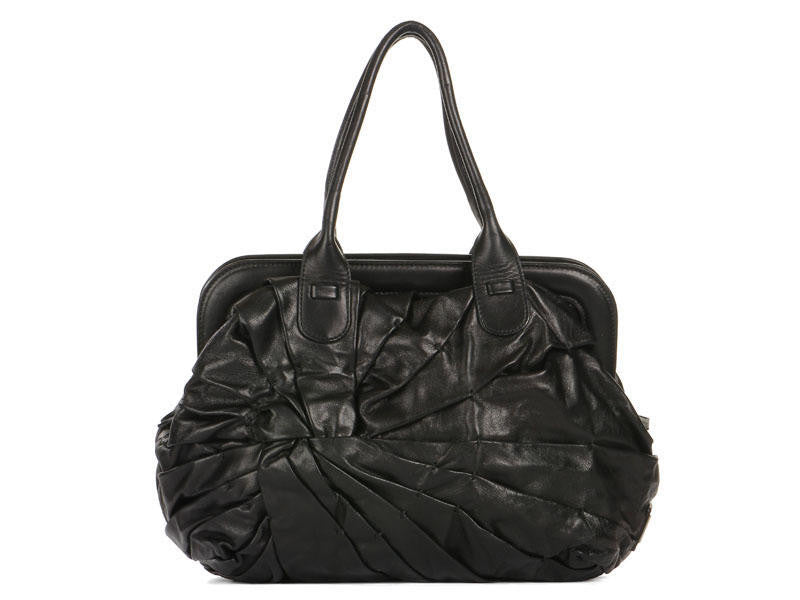 Valentino Black Pleated Knot Bag