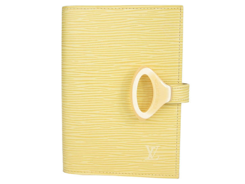 Louis Vuitton Vanilla Epi Small Ring Agenda