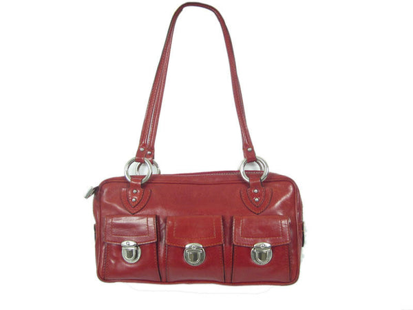 Marc Jacobs Burgundy Three Pocket Bag
