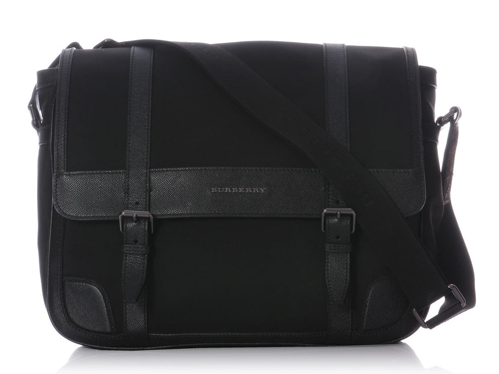 Burberry Black Nylon Messenger Bag