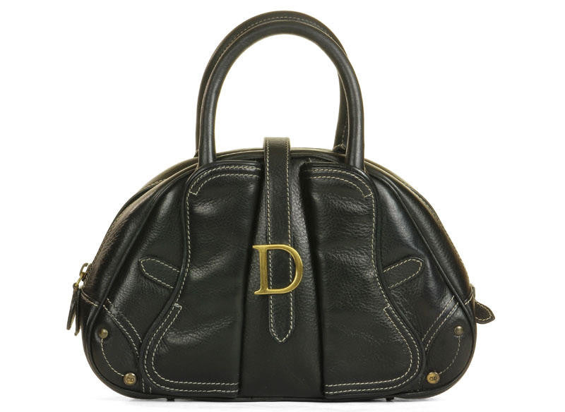 Christian Dior Black Leather Satchel