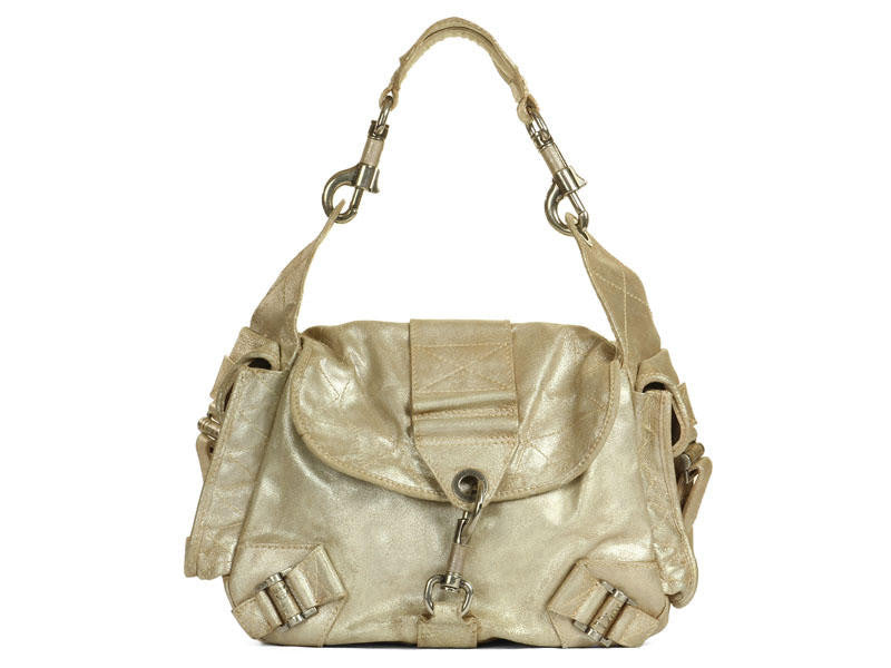 Christian Dior Bronze Rebelle Satchel