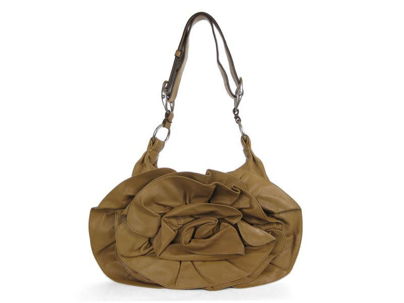 YSL Tan Nadja Flower Hobo