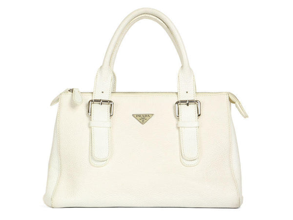 Prada White Leather Bag