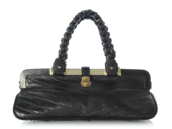 Marc Jacobs Black Chevron Handbag