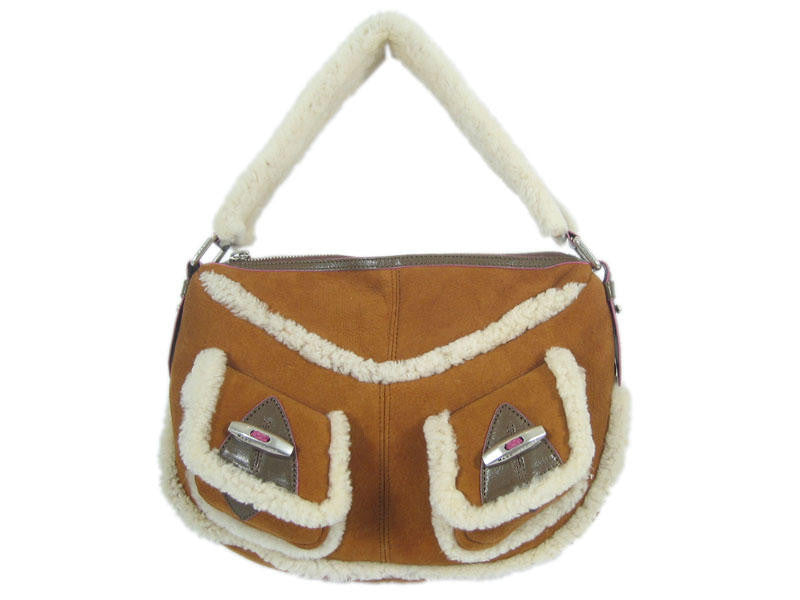 Marc Jacobs Tan Shearling Shoulder Bag