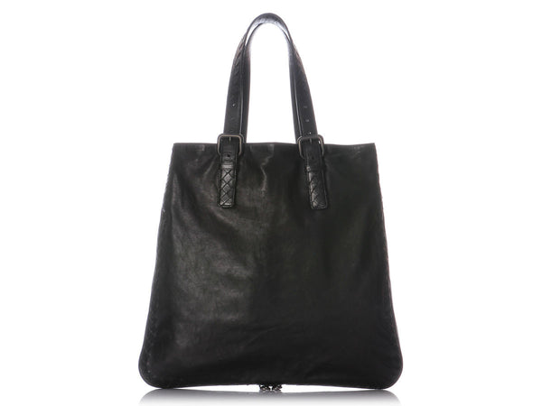 Bottega Veneta Black Leather Tote