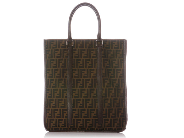 Fendi Tall Monogram Canvas Tote