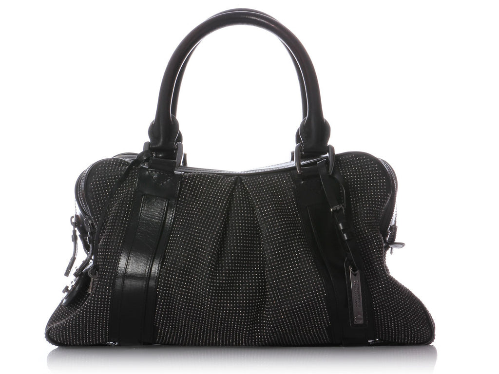 Burberry Small Studded Black Knight Bag