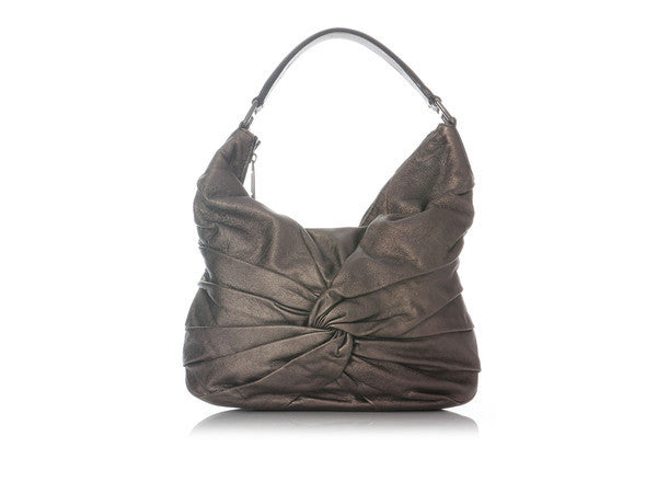Burberry Small Soft Dark Nickel Knots Maggie Hobo
