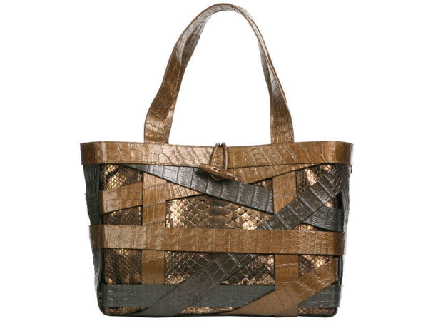Nancy Gonzalez Python and Alligator Small Tote