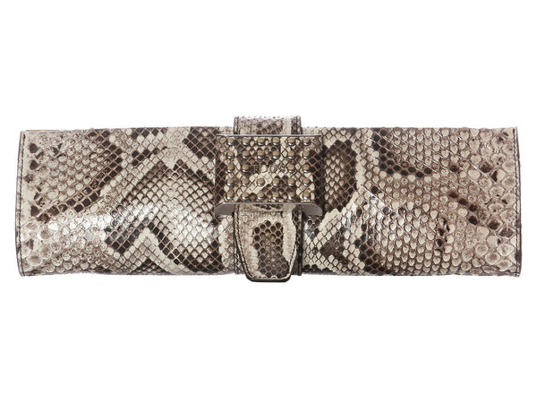 Tod's Natural Python Clutch