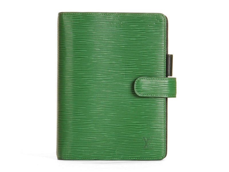 Louis Vuitton Green Epi Agenda