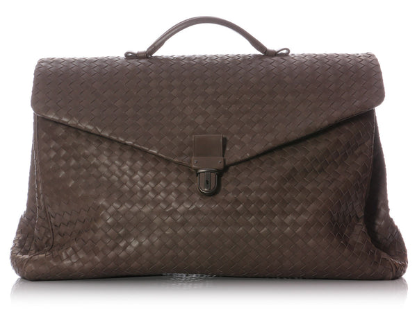 Bottega Veneta Clay Intrecciato Briefcase