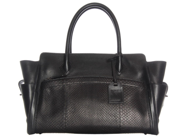 Reed Krakoff  Black Leather and Python 210 Tote 1