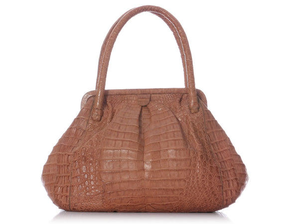 Nancy Gonzalez Tan Crocodile Bag