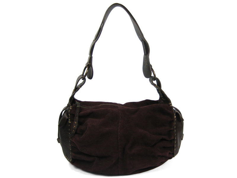 Henry Beguelin Plum Suede Bag