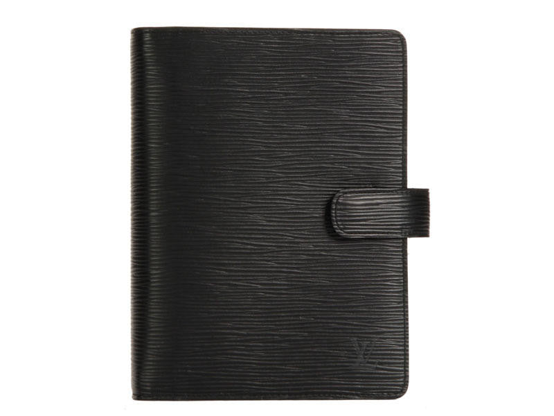 Louis Vuitton Medium Black Epi Agenda