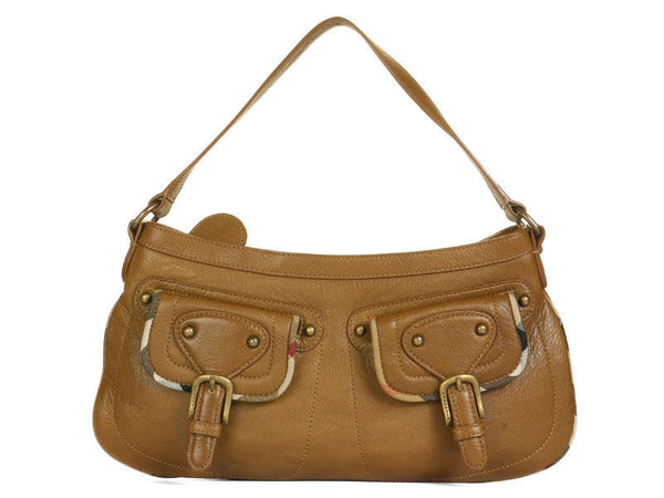 Burberry Slim Brown Leather Shoulder Bag
