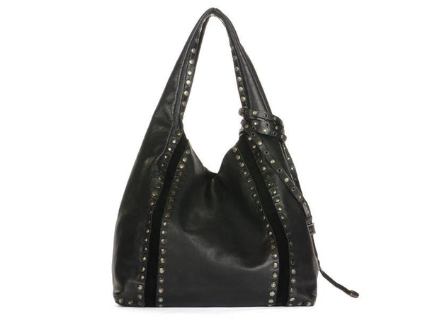 Jimmy Choo Black Studded Saba