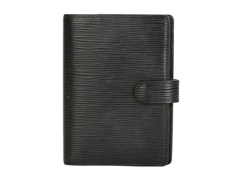 Louis Vuitton Black Epi Small Ring Agenda