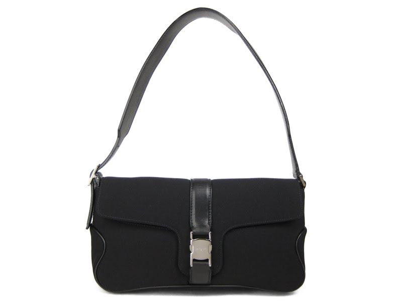 Ferragamo Black Neoprene Shoulder Bag