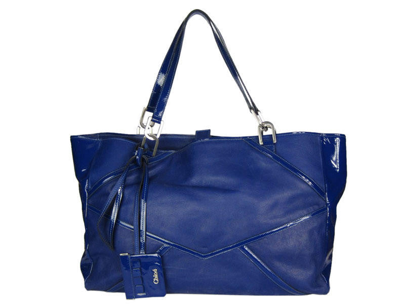 Chloé  Blue Oversized Leather Tote