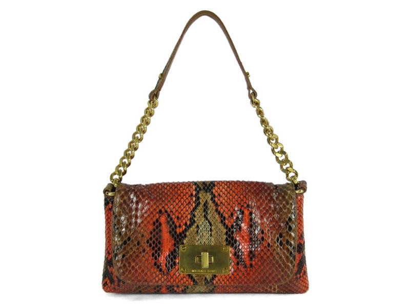 Michael Kors Painted Python Rehearsal Flap