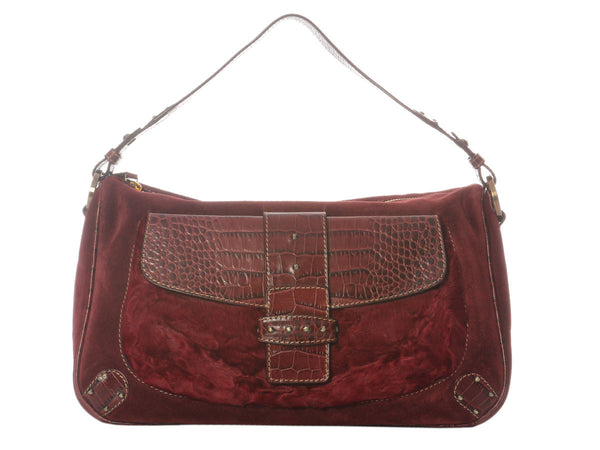 Valentino Burgundy Shoulder Bag