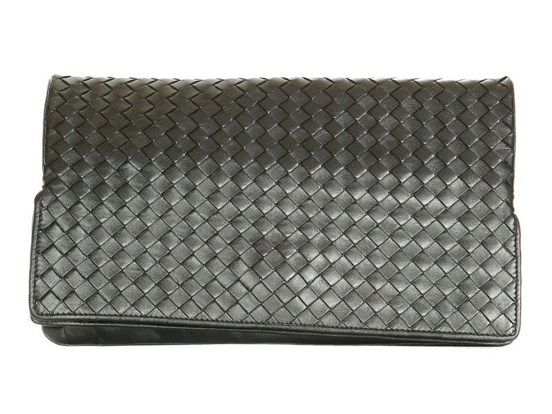 869e074865c0 Bottega Veneta Woven Pewter Clutch - Ann s Fabulous Closeouts