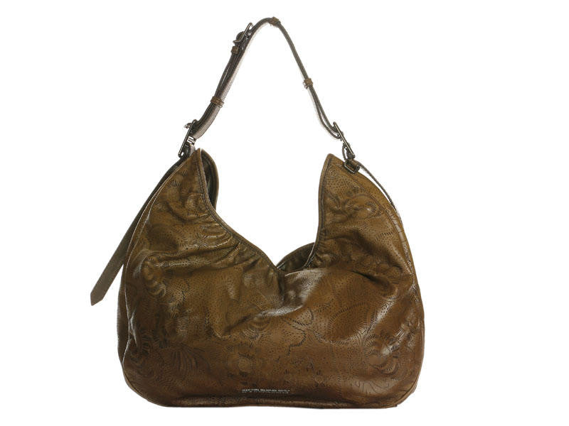 Burberry Brown Perforated Flowers Hobo