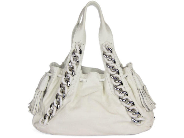 Michael Kors White Chain Link Bag