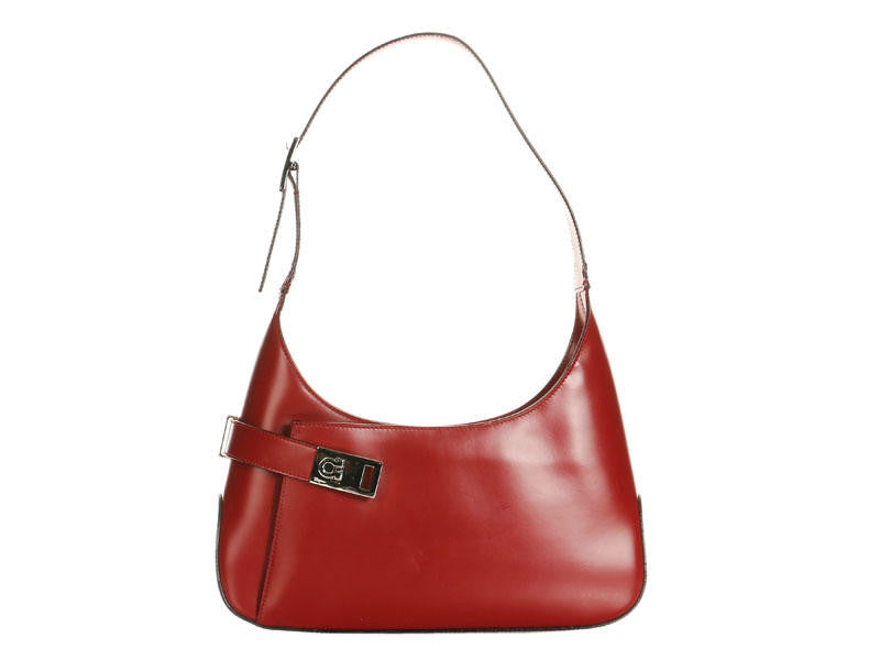 Ferragamo Red Leather Shoulder Bag