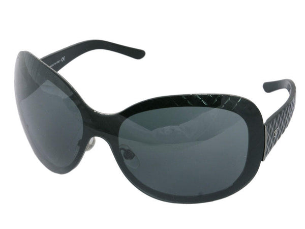 Chanel Over-Sized Black Wrap Around Sunglasses